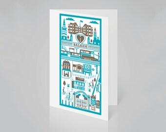Balham Card   South London card   Balham illustration   SW12 card  Housewarming card   New home card   Balham print   London gift