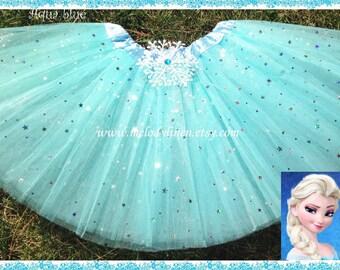 SALE-Frozen Tutu frozen birthday outfit frozen party favors snowflake tutu Elsa tutu olaf tutu Elsa dress Anna tutu aqua blue tutu blue tutu