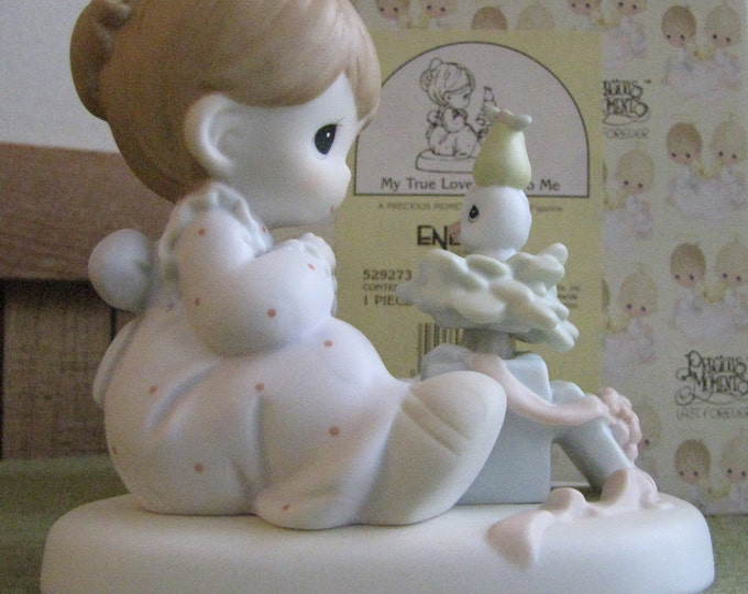 Precious Moments My True Love Gave To Me Figurine 1996 Heart Symbol Retired Partridge in a Pear Tree