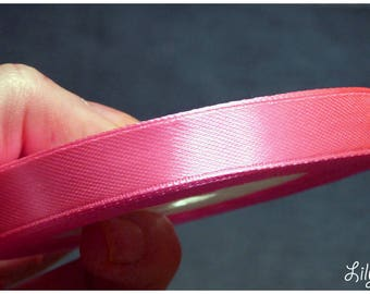 1 meter of Ribbon in satin pink 12mm