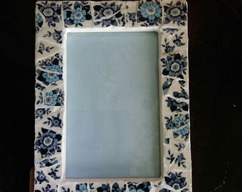 Ocera blue mosaic picture frame (small)