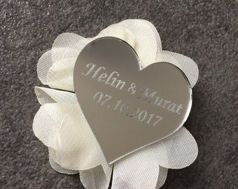 Magnet heart plexi with custom engraving