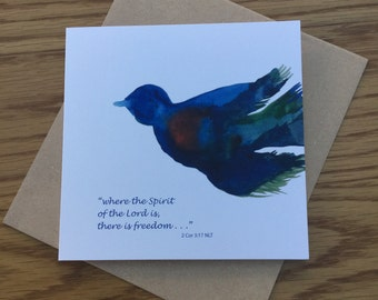 Greeting Card 'where the Spirit of the Lord is, there is freedom'