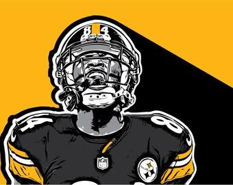 Pittsburgh Steelers - Antonio Brown - Art Print