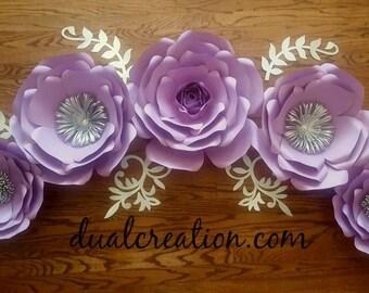 paper flower backdrop/quinceañera/wedding/candy table/décor/nursery