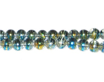 8mm Pure Elegance Abstract Glass Bead, approx. 37 beads