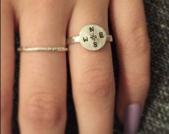Compass Ring Sterling Silver