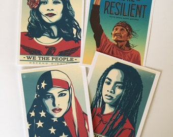 WE THE PEOPLE postet art  *historic prints* (4pc set)  Sale!!!