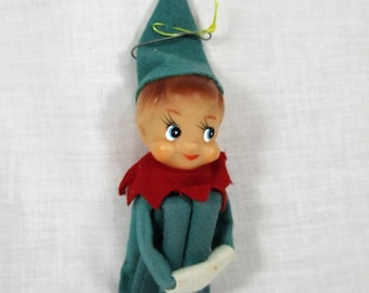 Vintage Christmas Elf Tree Ornament