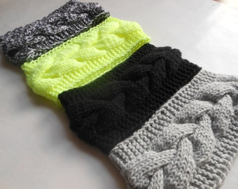 Knit Cable Headband  Ear Warmer Head Warmer Choose Color
