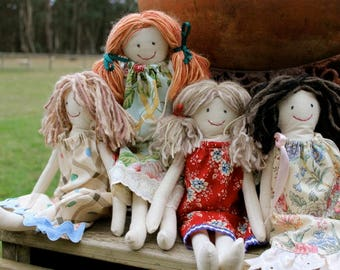 Tall Sally vintage cloth dolls