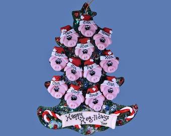Pig (12) ornament Family tree