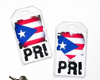 Puerto Rico Flag Luggage Tag, Puerto Rican Pride, Latino, Hispanic Heritage Gifts
