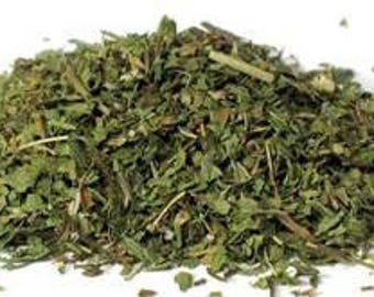 Spearmint 1oz cut & ready for spell work. Psychic Awareness, Invigorating Energy, Promoting Positivity, Dream Magick, Witch, Wicca, Pagan