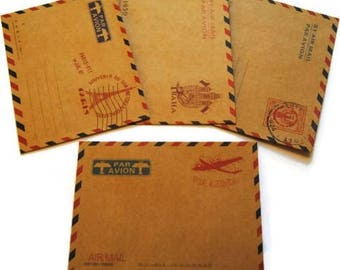 Set of 4 envelopes kraft scrapbooking cardmaking decoration *.