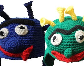 Lightweight Crochet Monster Hats