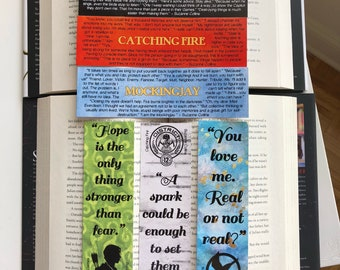 The Hunger Games bookmarks