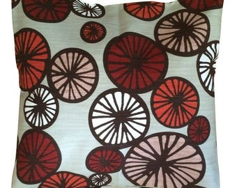 Double sided Cushion cover Pillow cover - Scandinavian Cotton fabric Circles  - 45 cm x 45 cm - 18'' x 18''