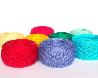 8 Balls Summer LINEN YARN, 100% Linen Yarn Various Colors, High Quality Linen Yarn, Crochet, Knitting Linen Yarn, 400g (14oz)