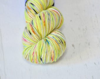 """Hand Dyed Yarn - Fingering weight - """"Green Cousin"""" Colorway - Hand Dyed Yarn - Socks - Shawl"""