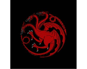 Machine Embroidery Design - Game of Thrones - Targaryen Dragon - 6 SIZES - Instant Download