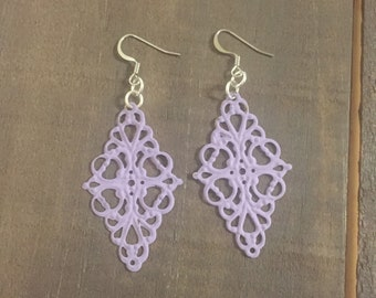 Lavender Filagree Earrings