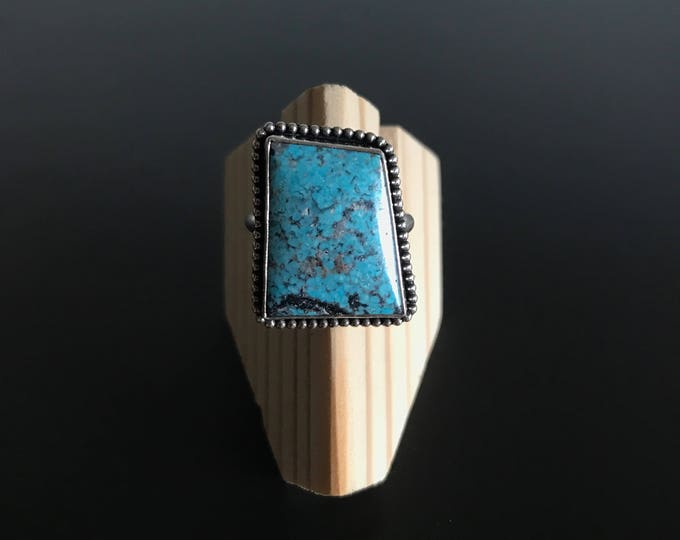 Sterling Silver Turquoise Ring - Size 7.25
