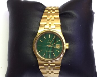 18k yellow gold Ladies Omega Constellation watch mint