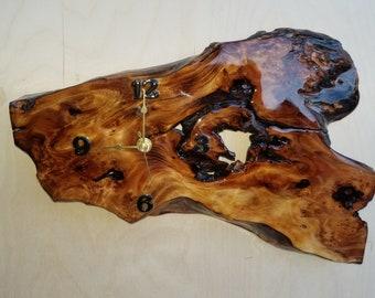 Natural Cedar wall clock