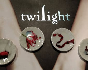 Dolls House miniature Twilight Saga set of 4 ceramic plates