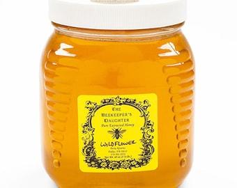Raw Wildflower Honey - 2.5 lb Jar