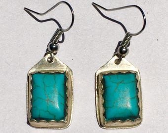 Sterling silver x Turquoise earrings
