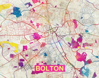 Bolton map Etsy