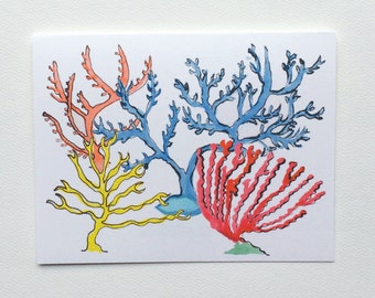 Coastal Seaside Coral Notecards