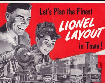 Lionel Corp. 1954 booklet of Track Layouts