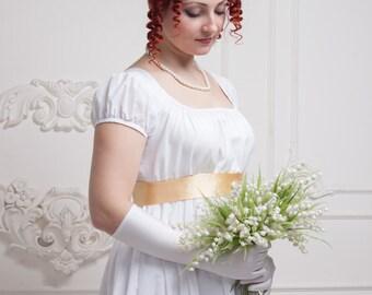 Regency Wedding Dress, Napoleonic Wedding Gown
