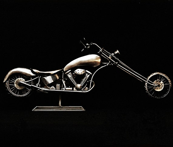 """Custom Chopper,Mocycle Metal Sculpture, """"The Outlaw Within"""",2016"""