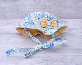 Liberty baby hat, liberty baby Sun Hat, child's hat, hat girl hat was a child, baby Hat handmade