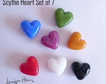 HEART & HEALTH! Glass Marker / Pawn / Token for Board Games made Jenefer Ham