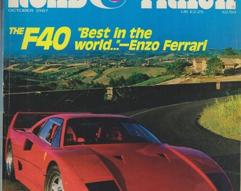 "Road & Track October 1987 The F40 ""Best in the World"" - Enzo Ferrari"