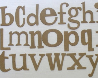 """WORD PLAY  FONT --  Raw CHiPBOARD Alphabet Letters Bare Die Cuts - 1"""" - 1.5"""" in Size - 72 Pieces"""