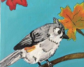 Titmouse amidst the leaves