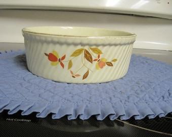 Vintage Casserole Dish Autumn Leaves (Hall  Jewel Co.) 1950,s