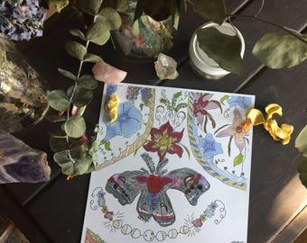 Botanical moth art print