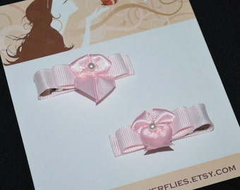 Pink Bow Hair Clips - Buy 3 Items, Get 1 FREE, Pink Hair Bows, Girls Hair Bows, Baby Hair Bows, No Slip Hair Clips, Toddler Girls