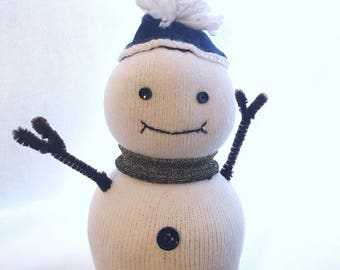 Freezy the Sock Snow Person -Ready to ship!