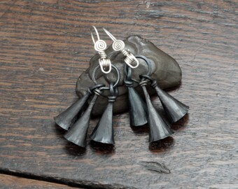 Iron Bell Earrings