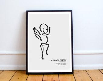 Custom Angel Baby Print - Baby5