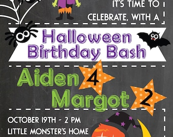 Halloween Birthday Bash Invitation