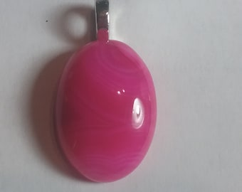 Natural Hot Pink Crazy Lace AGATE Cabochon Gemstone Pendant